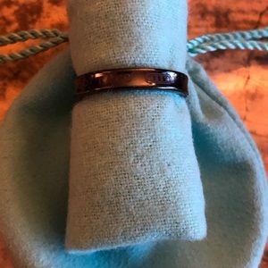 Tiffany 1837 Narrow Titanium Ring size 10